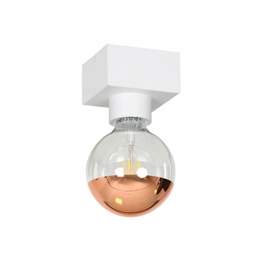Moderne Deckenlampe Weiß eckig minimalistisch E27