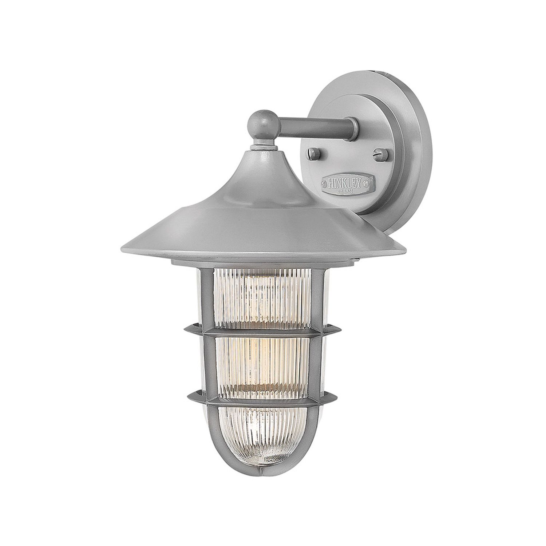 Wandlampe Außen Grau Aluminium IP44 Maritim Hof