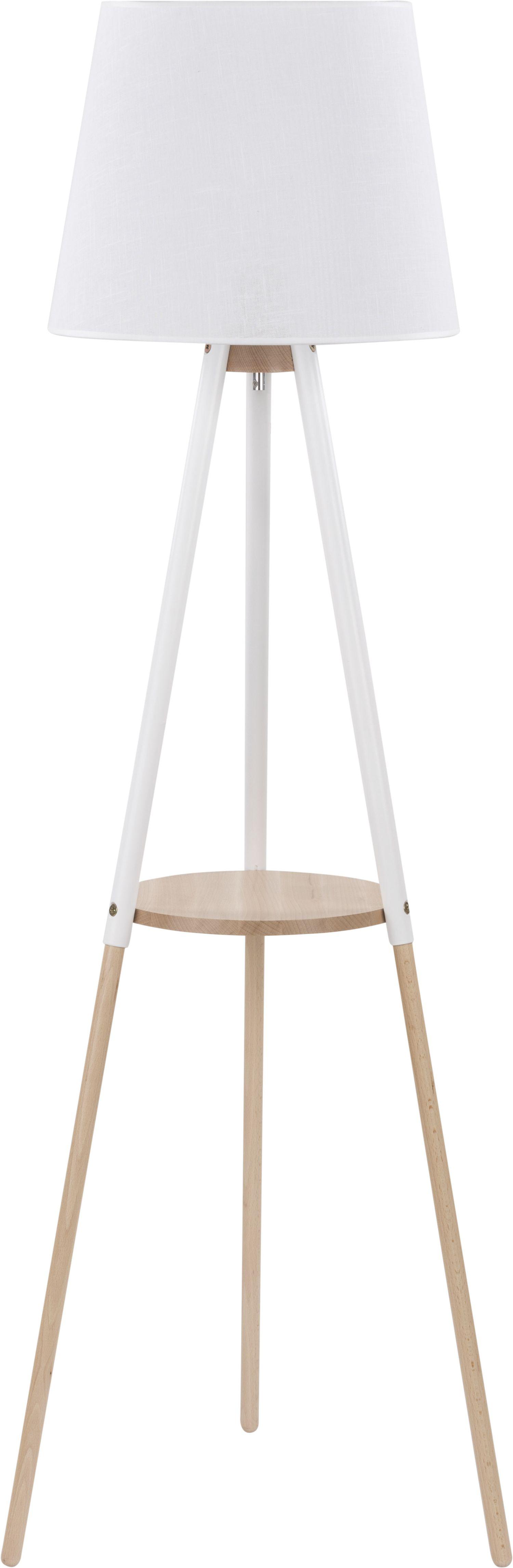 Stehleuchte VAIO Weiß Holz Dreibein skandinavisch