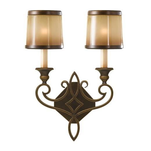 Wandlampe ANABELL 4 Beige Bronze B:34cm Leuchte