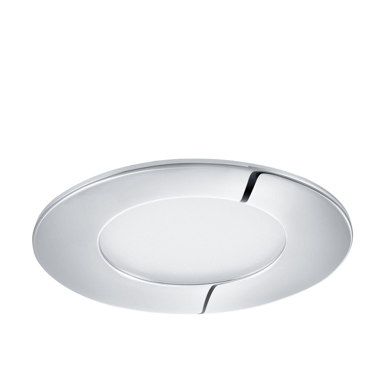 Verchromter Einbau LED Spotstrahler Fueva Chrom Ø9cm