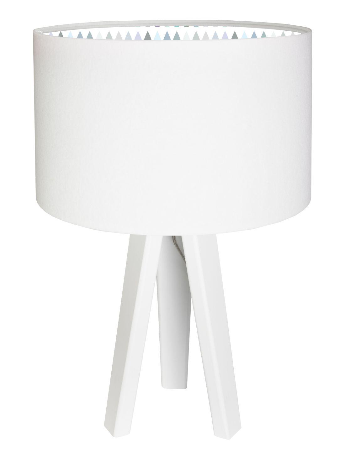 Tischleuchte Dreibein Kinderlampe Weiß Bunt Holz