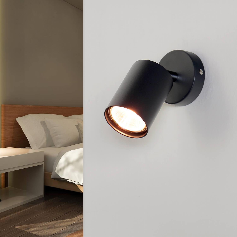 Spot Strahler Grau Modern Wand Sofa Bett Lesen