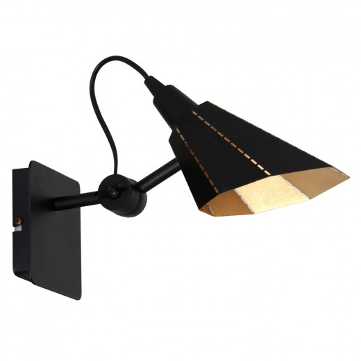Wandlampe Modern flexibel Leseleuchte Schwarz