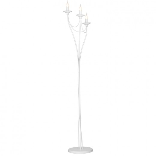 Weiße Stehleuchte Metall Rustikal Kerzenständer