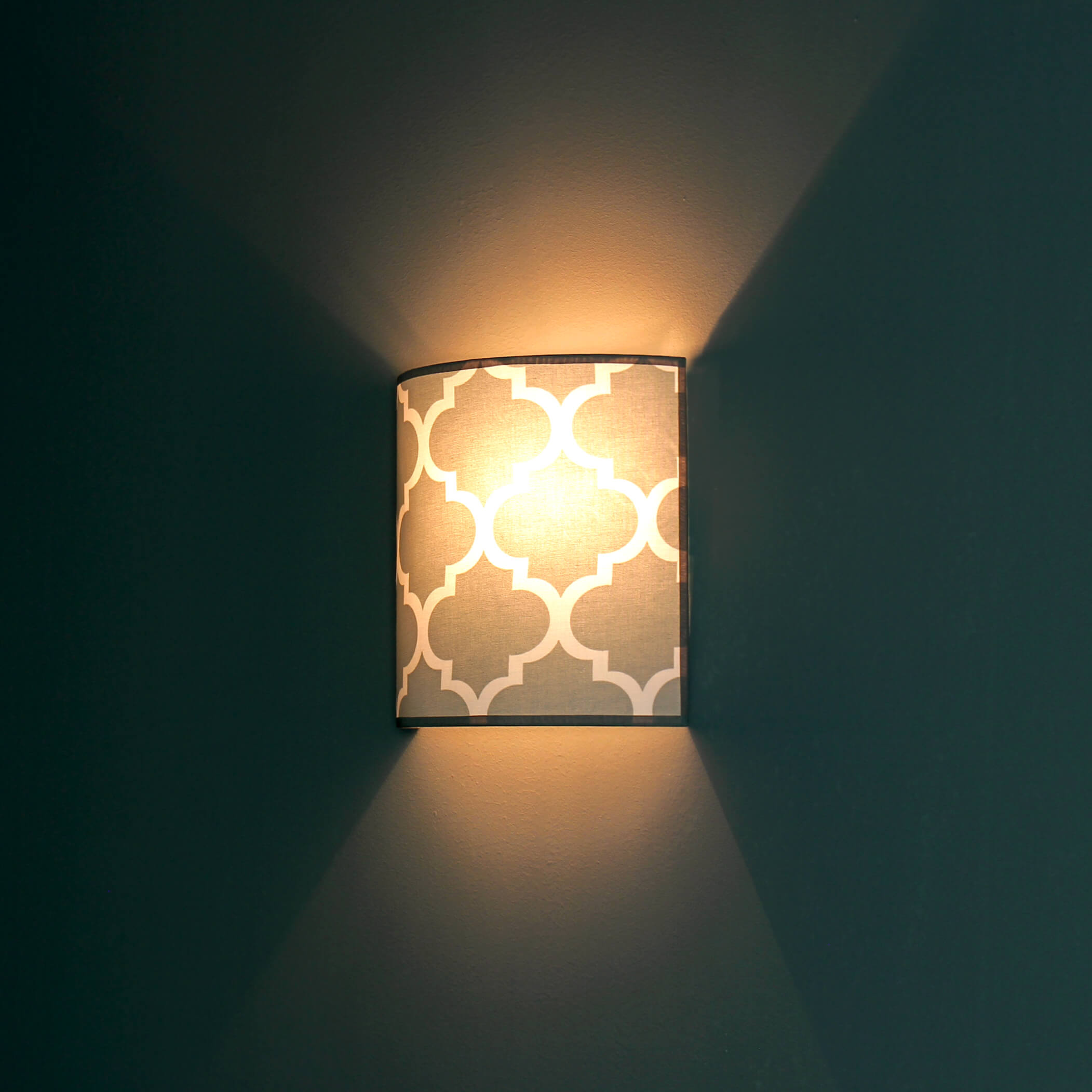 Wandlampe Grau Weiß Wohnzimmer Retro