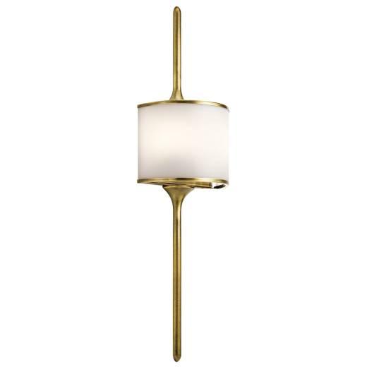 Wandleuchte IP44 Bad Lampe in Messing ARYA B:20cm