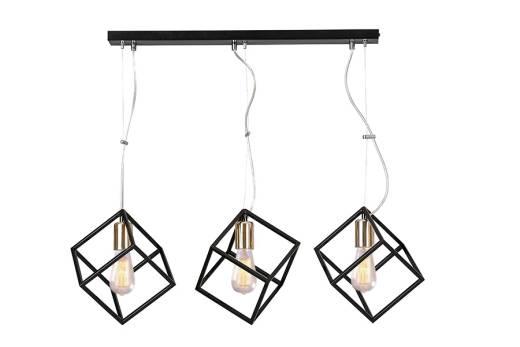 Hängelampe Schwarz länglich Esszimmer Modern Design