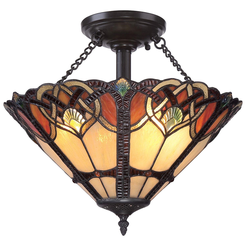Tiffany Lampe Flur Wohnzimmer Buntglas Premium