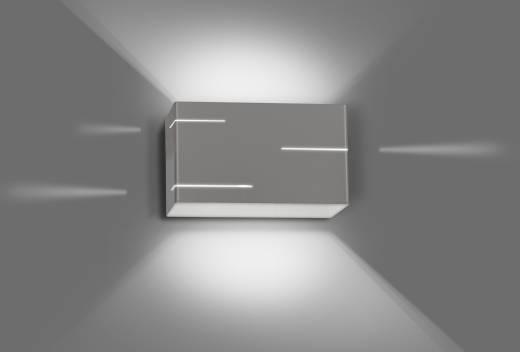 Graue Wandlampe indirektes Licht Modern Design Flur