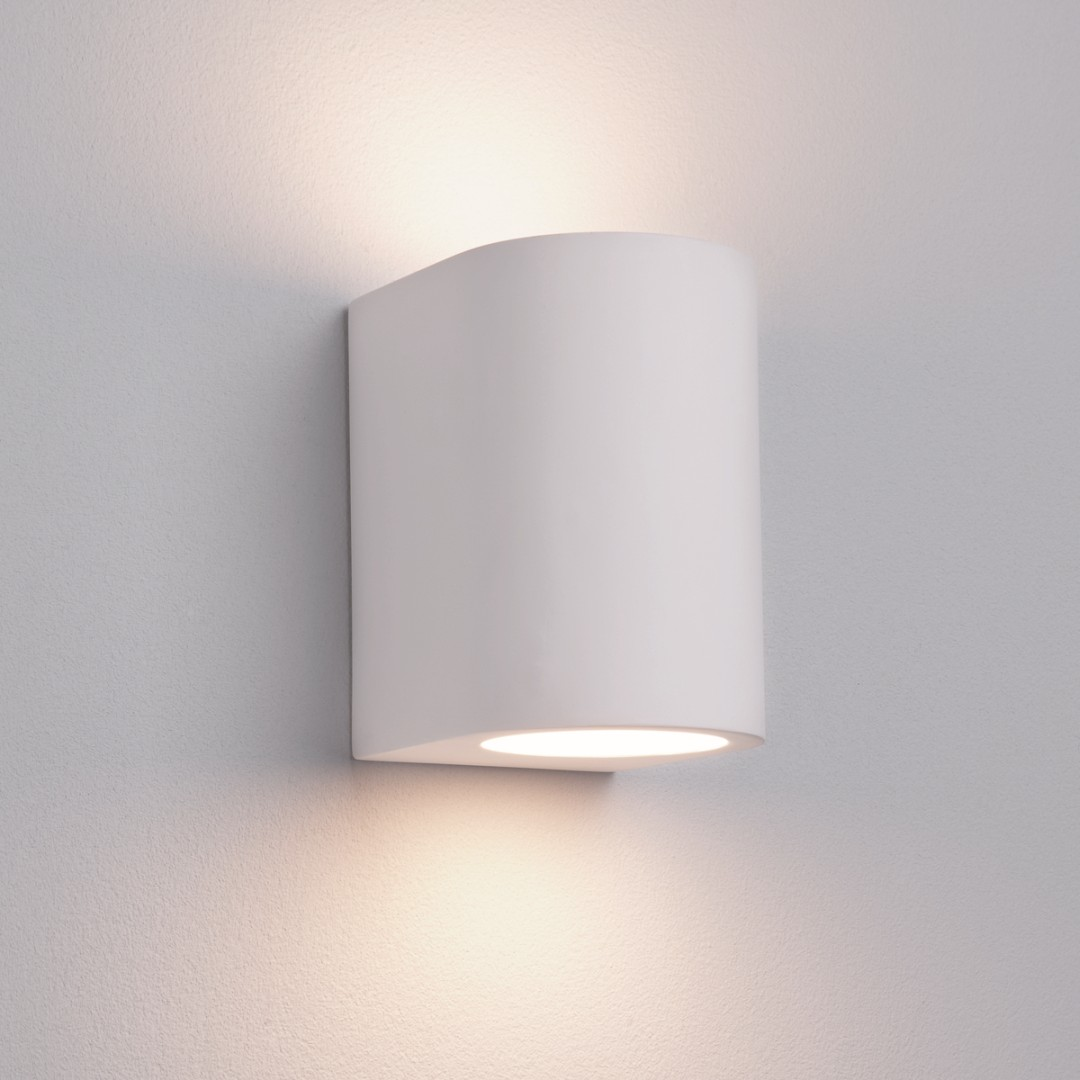Wandlampe in Weiß