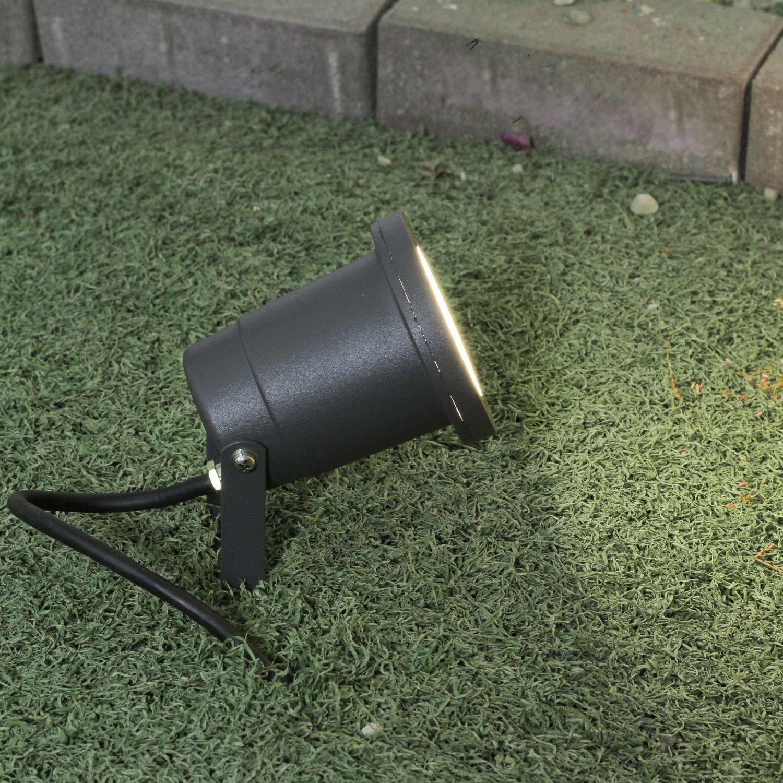 Gartenleuchte Anthrazit Erdspieß verstellbar 1m Kabel GU10