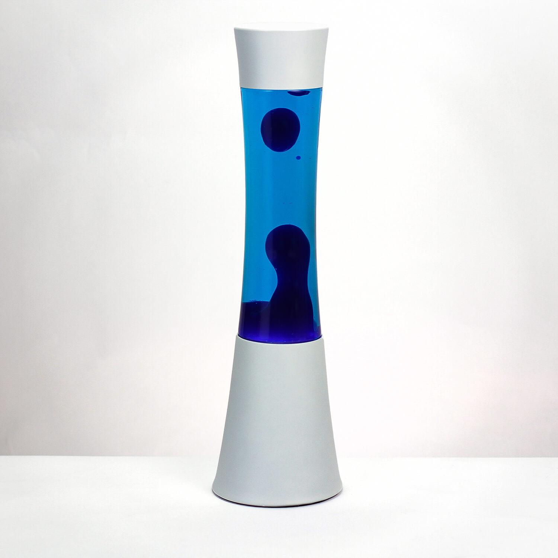 Lavalampe Ringo in weiß blau
