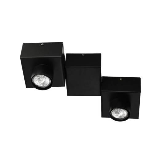 Deckenleuchte Schwarz Modern eckig 2-flammig GU10