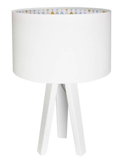 Kinderzimmer Tischlampe Mädchen Weiß 46cm Holz
