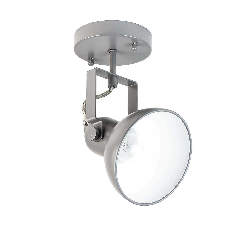 Spot Lampe Anthrazit Metall rund Retro praktisch