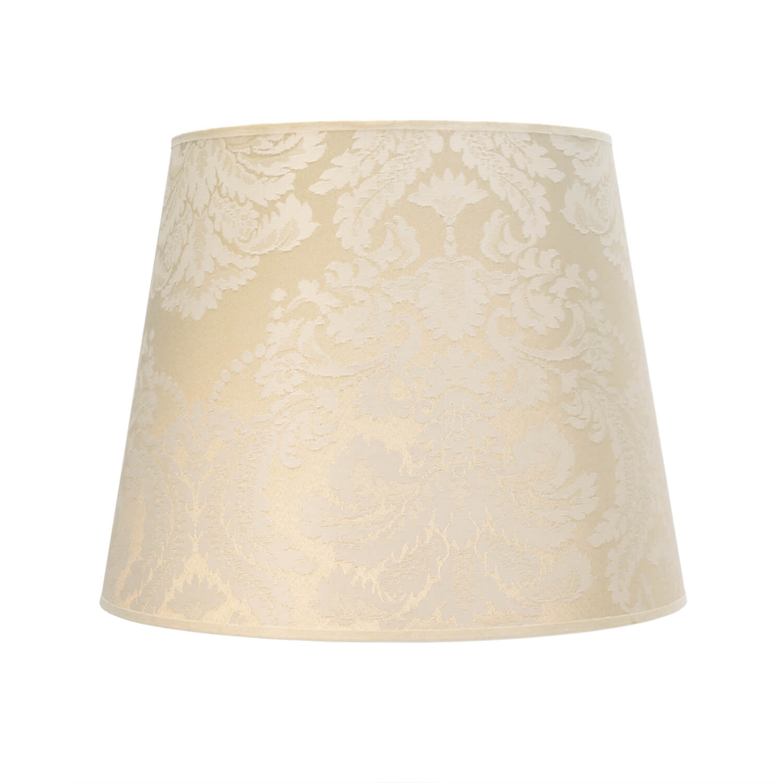 Konischer Lampenschirm Hängelampe Weiß E27 Stoff
