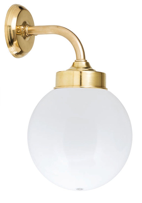 Wandlampe Außen Messing Kugel Schirm Ø20cm VERIA