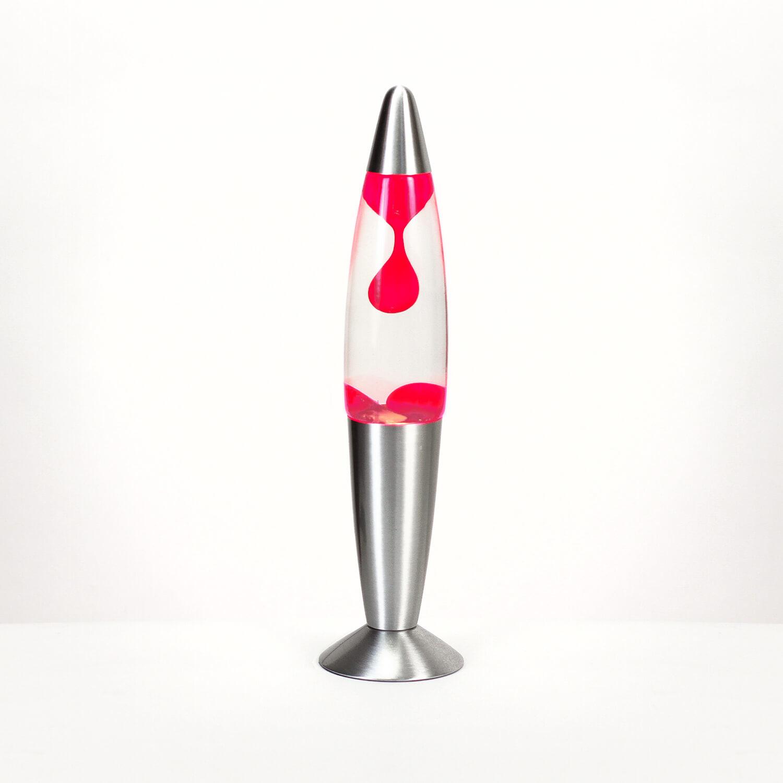 Auffallende Lavalampe Rot Transparent H:36cm TIMMY