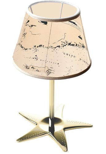 Edle Tischlampe MIRENA Maritim H:40cm Messing