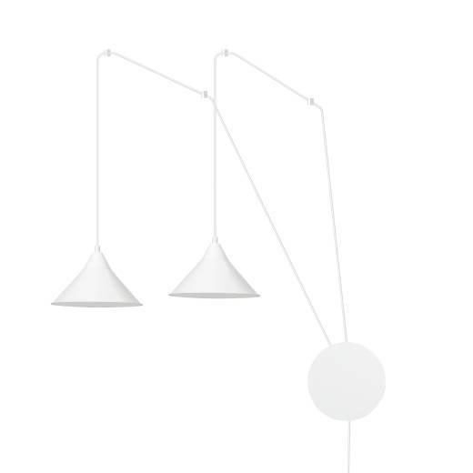 Pendelleuchte mit Stecker Weiß Wohnzimmer Esstisch