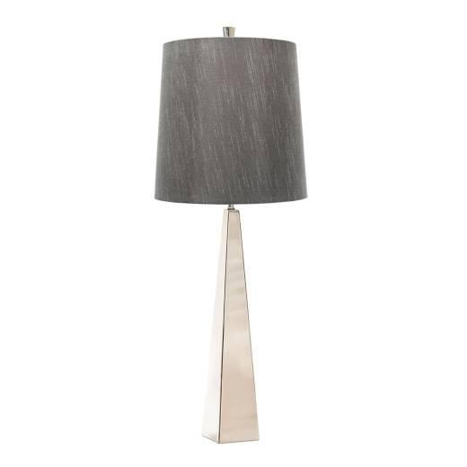 Design Bodenlampe Metall Stoff in Nickel Dunkelgrau