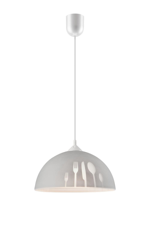 Küchenlampe Retro Glas mit Motiv Ø30cm
