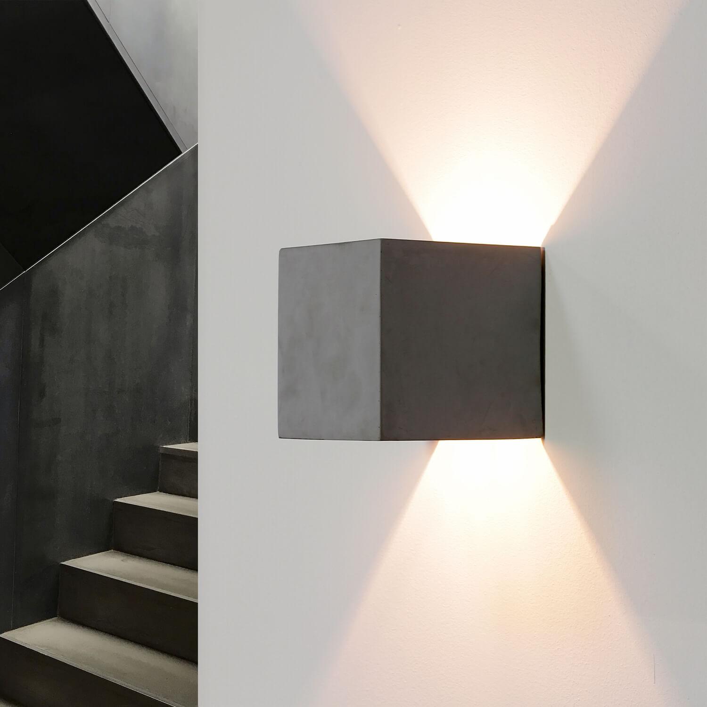 Beton Wandlampe eckig Modern Design Up Down ADEC