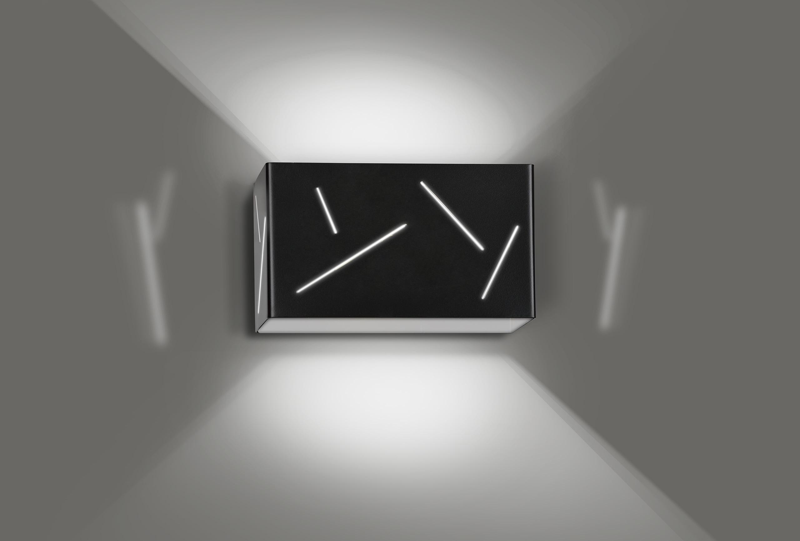 Wandlampe Indirekte Beleuchtung Schwarz eckig Modern