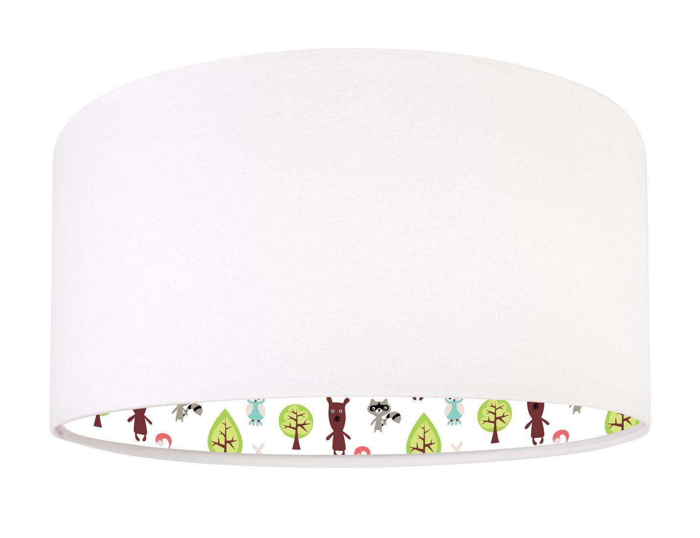 Weiß Bunt Pendelleuchte Stoff rund Kinderzimmer