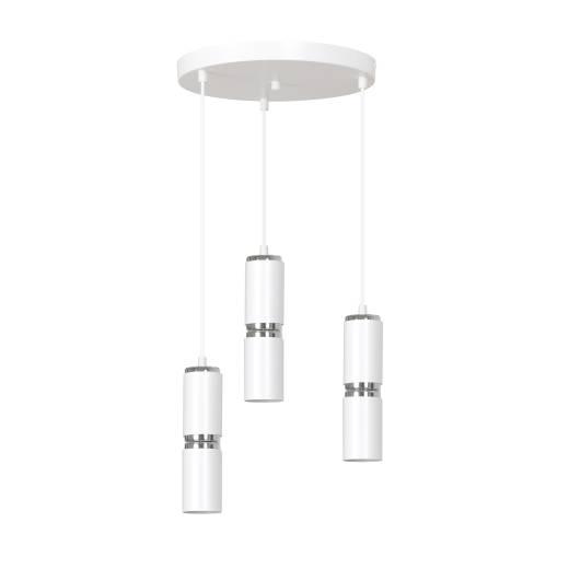 Moderne Hängeleuchte Weiß Metall 3 flmg verstellbar