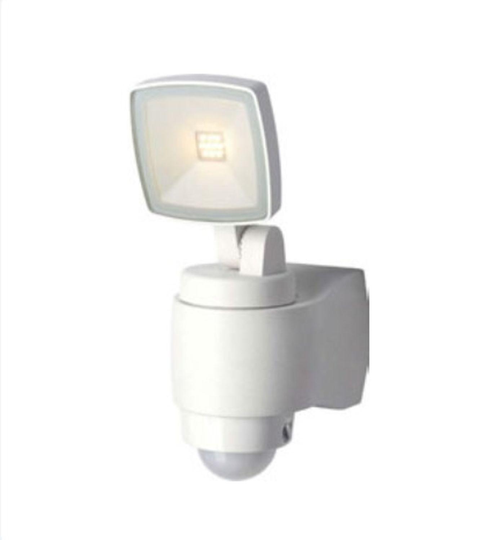LED Außenleuchte Bewegungsmelder Weiß IP44 AMINA