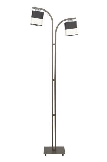 Stehlampe Braun Stoff 160cm Klassisch Wohnzimmer