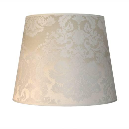 Stoff Lampenschirm Weiß Stehlampe groß E27