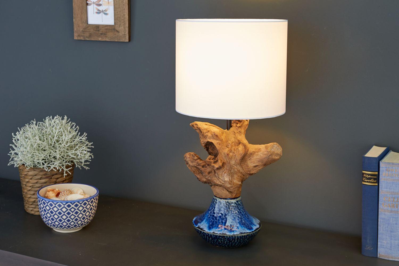 Tischlampe Treibholz 50cm Maritim dekorativ PECIOS