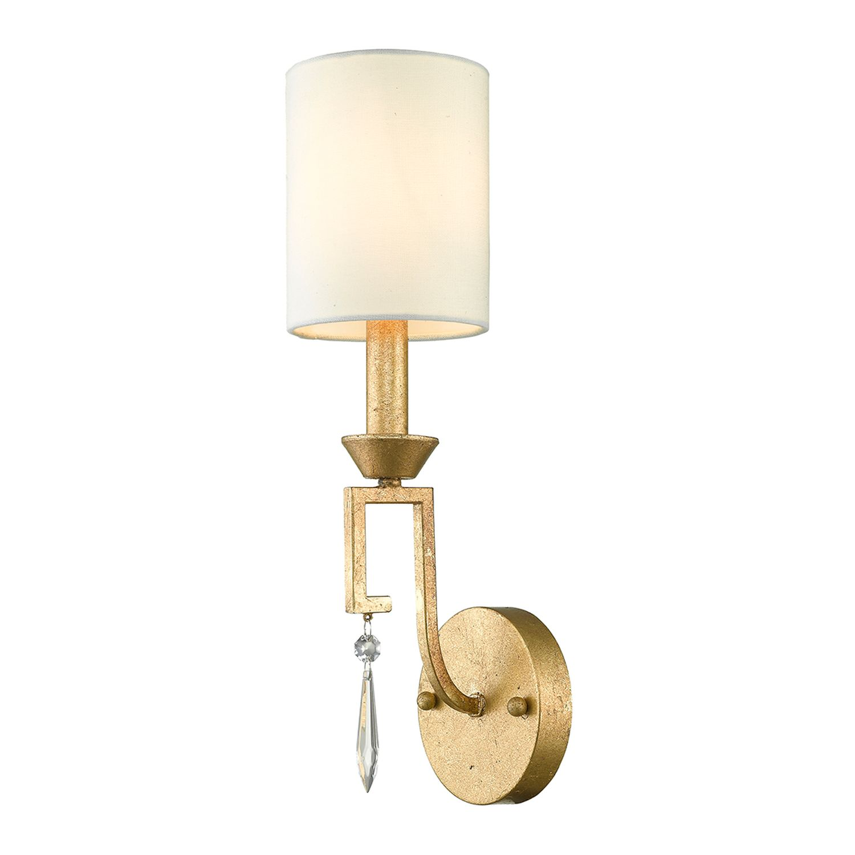 Vintage Wandlampe AIROSO Gold Weiß H:45cm Lampe