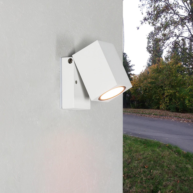 Außenleuchte AALBORG Weiß verstellbar IP44 Eingang