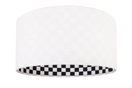 Hängelampe Weiß Schwarz Stoff rund Retro LAUREL