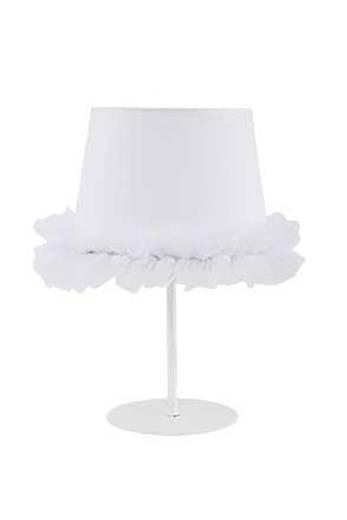 Nachttischlampe Weiß Stoff Schirm Mädchen Kinder