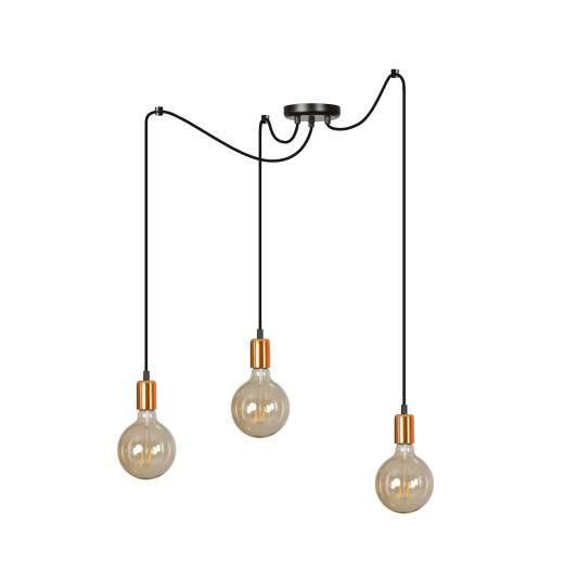 Pendelleuchte Schwarz minimalistisch 3-flammig E27