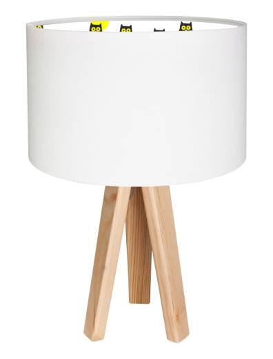 Tischleuchte Schirm Kinderlampe Weiß bunt Holz