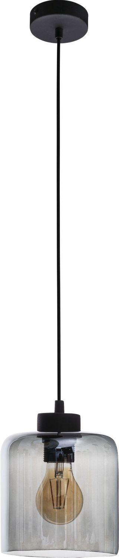 Hängelampe in Graphit Glas Esstisch Lampe ATIRI