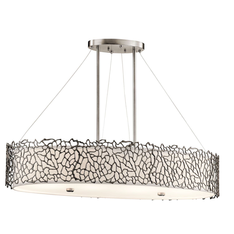 Deckenlampe RINA in Zinn Weiß B:86cm kürzbar Lampe