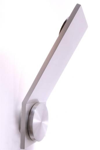 LED Wandleuchte Obtuso silber gebürstet
