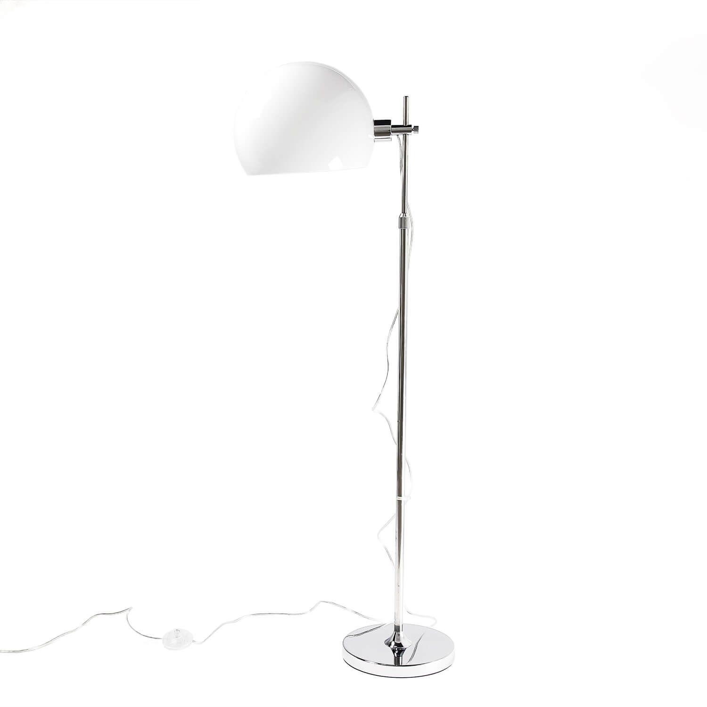 Stehlampe Wohnzimmer Leseleuchte Chrom Weiß Bauhaus