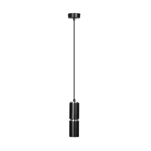 Hängeleuchte Schwarz Zylinder höhenverstellbar E27
