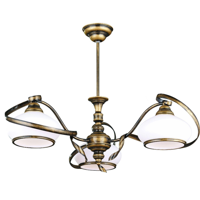 Deckenleuchte 3-Flammig Messing Wohnzimmer Lampe