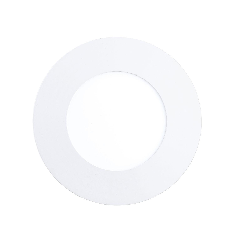 Klassischer Einbau LED Spotstrahler Fueva Weiß Ø9cm