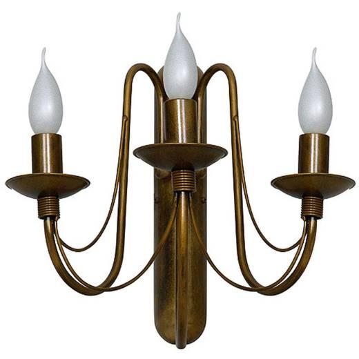 Rustikale Wandlampe Wandleuchte Gold 3-flammig