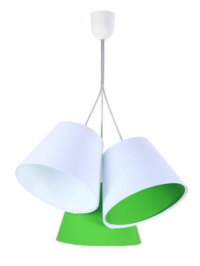 Pendelleuchte 3 Schirme Weiß Grün Kinder Mädchen